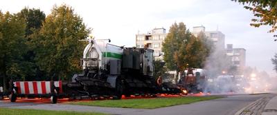 Fire, smoke and big machines...