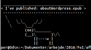 Cowsay user feedback