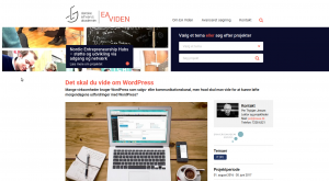 Eaviden.dk - the page about my project