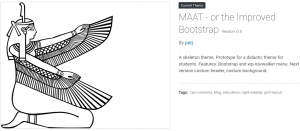 Maat - a Bootstrap theme with wp-navwalker