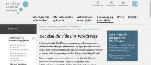 What You Should Know About WordPress launced at the EAAA.dk